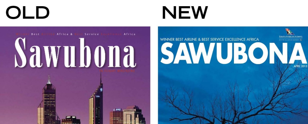 A brand new SAWUBONA in-flight magazine for SAA