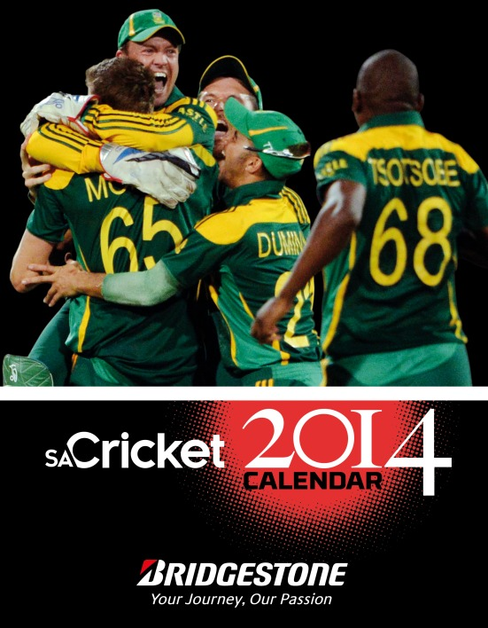 SA Cricket Calendar cover