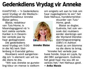 Anneke Die Burger article