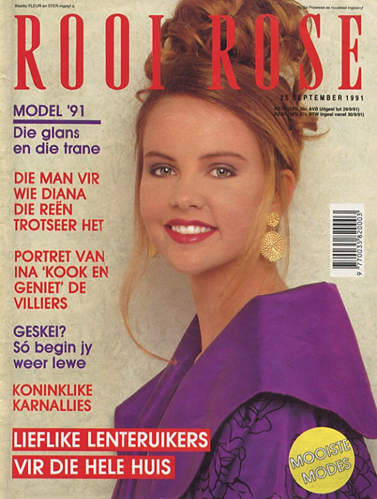 25 Sep 1991 Charlize Theron rooi rose