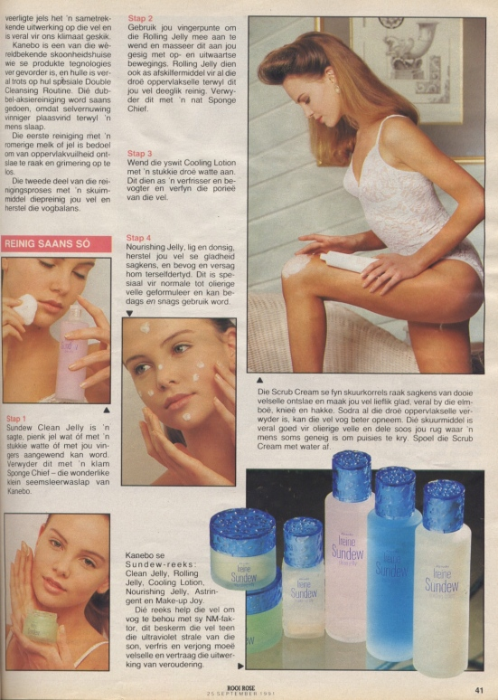 September 1991_05 Charlize Theron rooi rose